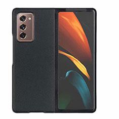Custodia Lusso Pelle Cover S03 per Samsung Galaxy Z Fold2 5G Nero