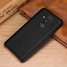 Custodia Lusso Pelle Cover S04 per Huawei Mate 20 Lite Nero