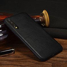 Custodia Lusso Pelle Cover S04 per Huawei P30 Nero