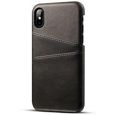 Custodia Lusso Pelle Cover S06 per Apple iPhone Xs Max Nero