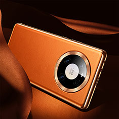 Custodia Lusso Pelle Cover S08 per Huawei Mate 40 Arancione