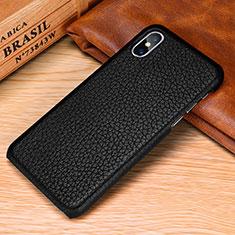 Custodia Lusso Pelle Cover S10 per Apple iPhone Xs Max Nero
