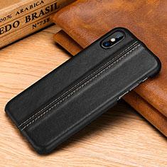 Custodia Lusso Pelle Cover S11 per Apple iPhone Xs Max Nero