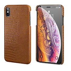 Custodia Lusso Pelle Cover S12 per Apple iPhone Xs Marrone