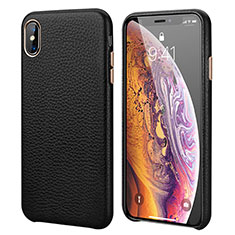 Custodia Lusso Pelle Cover S14 per Apple iPhone X Nero