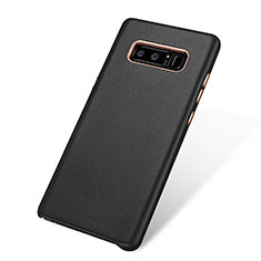 Custodia Lusso Pelle Cover W01 per Samsung Galaxy Note 8 Nero