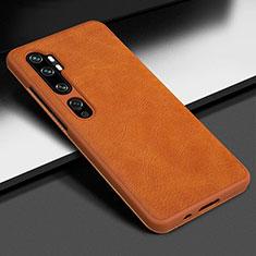 Custodia Lusso Pelle Cover Z01 per Xiaomi Mi Note 10 Arancione