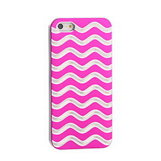 Custodia Lusso Wave Alluminio per Apple iPhone SE Rosa Caldo