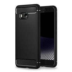 Custodia Morbida Silicone Lucido per HTC U11 Nero