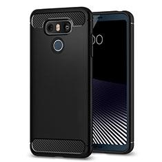 Custodia Morbida Silicone Lucido per LG G6 Nero