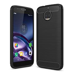 Custodia Morbida Silicone Lucido per Motorola Moto G5S Plus Nero
