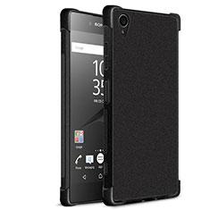 Custodia Morbida Silicone Lucido per Sony Xperia XA1 Plus Nero