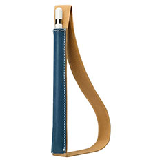 Custodia Pelle Elastico Cover Manicotto Staccabile P01 per Apple Pencil Apple iPad Pro 12.9 Blu