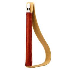 Custodia Pelle Elastico Cover Manicotto Staccabile P01 per Apple Pencil Apple iPad Pro 12.9 Rosso