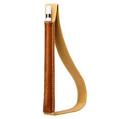 Custodia Pelle Elastico Cover Manicotto Staccabile P01 per Apple Pencil Apple New iPad 9.7 (2017) Marrone