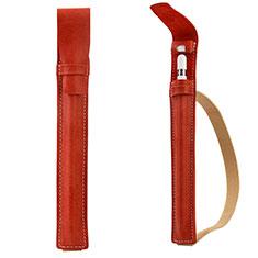 Custodia Pelle Elastico Cover Manicotto Staccabile P02 per Apple Pencil Apple iPad Pro 12.9 Rosso