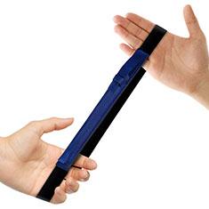 Custodia Pelle Elastico Cover Manicotto Staccabile P03 per Apple Pencil Apple iPad Pro 12.9 Blu