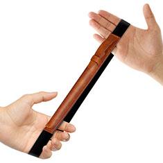 Custodia Pelle Elastico Cover Manicotto Staccabile P03 per Apple Pencil Apple iPad Pro 12.9 Marrone