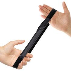 Custodia Pelle Elastico Cover Manicotto Staccabile P03 per Apple Pencil Apple iPad Pro 12.9 Nero