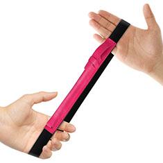 Custodia Pelle Elastico Cover Manicotto Staccabile P03 per Apple Pencil Apple iPad Pro 12.9 Rosa Caldo