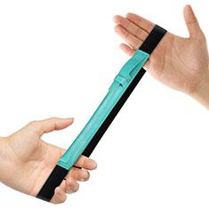 Custodia Pelle Elastico Cover Manicotto Staccabile P03 per Apple Pencil Apple iPad Pro 12.9 Verde