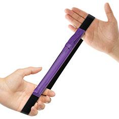 Custodia Pelle Elastico Cover Manicotto Staccabile P03 per Apple Pencil Apple iPad Pro 12.9 Viola