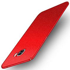 Custodia Plastica Cover Rigida Sabbie Mobili per Samsung Galaxy C7 SM-C7000 Rosso