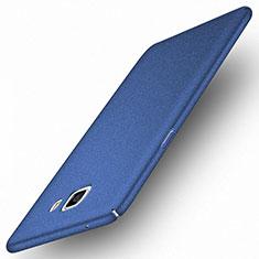 Custodia Plastica Cover Rigida Sabbie Mobili per Samsung Galaxy C9 Pro C9000 Blu