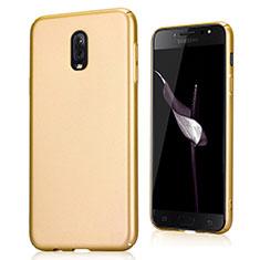 Custodia Plastica Cover Rigida Sabbie Mobili per Samsung Galaxy J7 Plus Oro