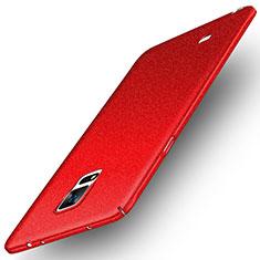 Custodia Plastica Cover Rigida Sabbie Mobili per Samsung Galaxy Note 4 Duos N9100 Dual SIM Rosso