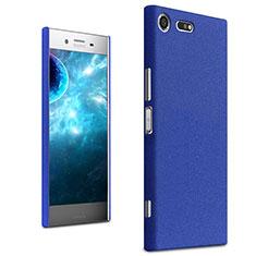 Custodia Plastica Cover Rigida Sabbie Mobili per Sony Xperia XZ Premium Blu