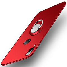 Custodia Plastica Rigida Cover Opaca con Anello Supporto A01 per Huawei Nova 3 Rosso