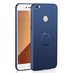 Custodia Plastica Rigida Cover Opaca con Anello Supporto A01 per Xiaomi Redmi Note 5A Prime Blu