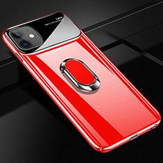 Custodia Plastica Rigida Cover Opaca con Magnetico Anello Supporto A01 per Apple iPhone 12 Rosso
