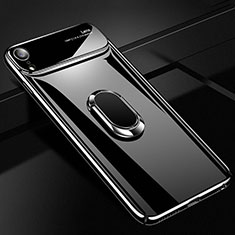 Custodia Plastica Rigida Cover Opaca con Magnetico Anello Supporto A01 per Apple iPhone XR Nero