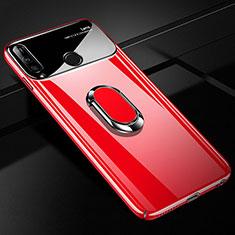 Custodia Plastica Rigida Cover Opaca con Magnetico Anello Supporto A01 per Huawei Enjoy 10 Plus Rosso