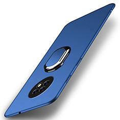 Custodia Plastica Rigida Cover Opaca con Magnetico Anello Supporto A01 per Huawei Enjoy 20 Plus 5G Blu