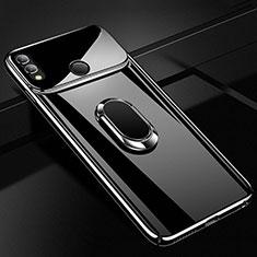 Custodia Plastica Rigida Cover Opaca con Magnetico Anello Supporto A01 per Huawei Honor 10 Lite Nero