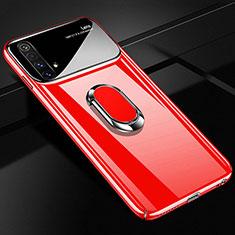 Custodia Plastica Rigida Cover Opaca con Magnetico Anello Supporto A01 per Realme X3 SuperZoom Rosso