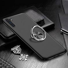 Custodia Plastica Rigida Cover Opaca con Magnetico Anello Supporto A01 per Samsung Galaxy Note 10 Nero