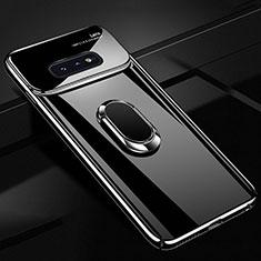 Custodia Plastica Rigida Cover Opaca con Magnetico Anello Supporto A01 per Samsung Galaxy S10e Nero