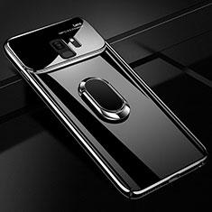 Custodia Plastica Rigida Cover Opaca con Magnetico Anello Supporto A01 per Samsung Galaxy S9 Nero