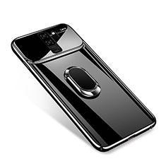Custodia Plastica Rigida Cover Opaca con Magnetico Anello Supporto A01 per Samsung Galaxy S9 Plus Nero