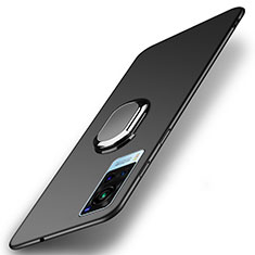 Custodia Plastica Rigida Cover Opaca con Magnetico Anello Supporto A01 per Vivo X60 5G Nero