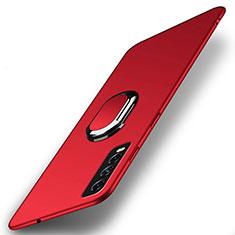 Custodia Plastica Rigida Cover Opaca con Magnetico Anello Supporto A01 per Vivo Y12s Rosso