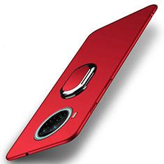 Custodia Plastica Rigida Cover Opaca con Magnetico Anello Supporto A01 per Xiaomi Mi 10T Lite 5G Rosso