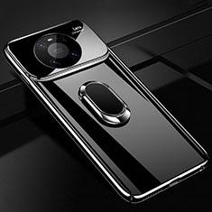 Custodia Plastica Rigida Cover Opaca con Magnetico Anello Supporto K01 per Huawei Mate 40 Pro Nero