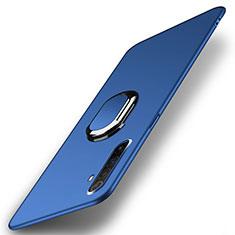 Custodia Plastica Rigida Cover Opaca con Magnetico Anello Supporto P01 per Realme X50 Pro 5G Blu