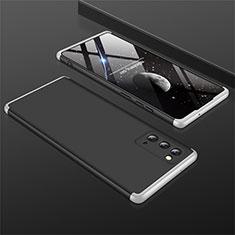 Custodia Plastica Rigida Cover Opaca Fronte e Retro 360 Gradi M01 per Samsung Galaxy Note 20 5G Argento e Nero