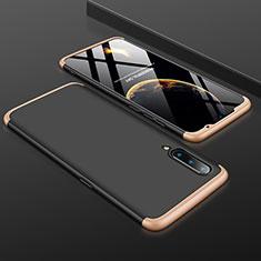 Custodia Plastica Rigida Cover Opaca Fronte e Retro 360 Gradi M01 per Xiaomi Mi 9 Pro Oro e Nero